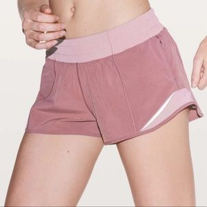 Lululemon Hotty Hot Shorts Pink Figue Athletic Gym